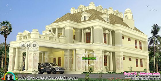 4450 sq-ft 5 bedroom Colonial style house