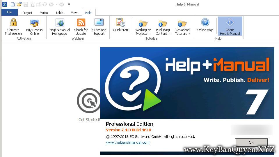 Help & Manual 7.4.0 Build 4610 Full Key Download, Phần mềm tạo File CHM và hơn thế nữa.