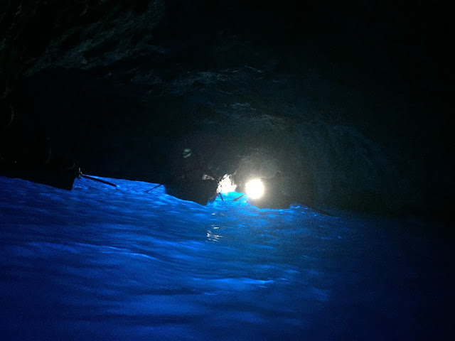 INSIDE THE BLUE GROTTO