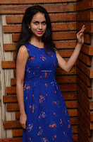 Pallavi Dora Actress in Sleeveless Blue Short dress at Prema Entha Madhuram Priyuraalu Antha Katinam teaser launch 012.jpg