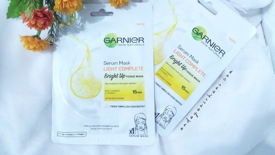 garnier sheet mask bright up