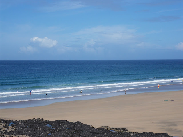 The sandy Fistral Beach, Newquay Cornwall