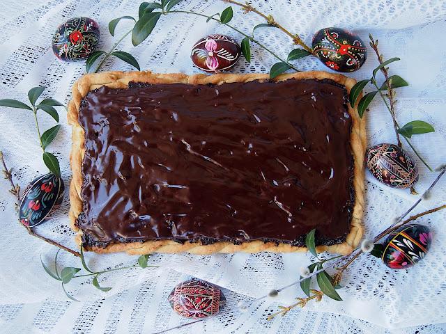 Mazurek śliwka w czekoladzie
