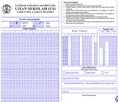 Download Lembar Jawaban Komputer ( LJK ) Sekolah Format .pdf dan .doc