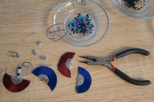 Adzik tworzy - DIY kolczyki boho z chwostami