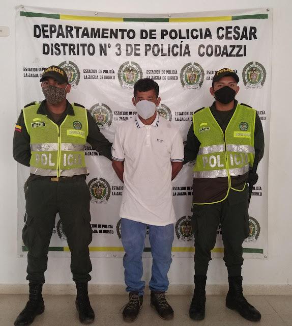 En La Jagua de Ibirico encuentran sujeto solicitado por homicidio en Santa Marta