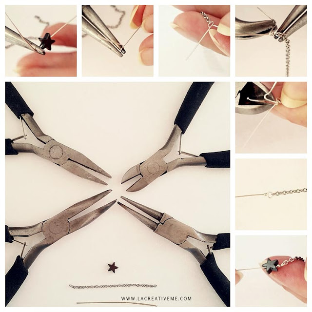 DIY Chain Star Ring