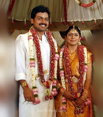 Actor Karthi weds Ranjani