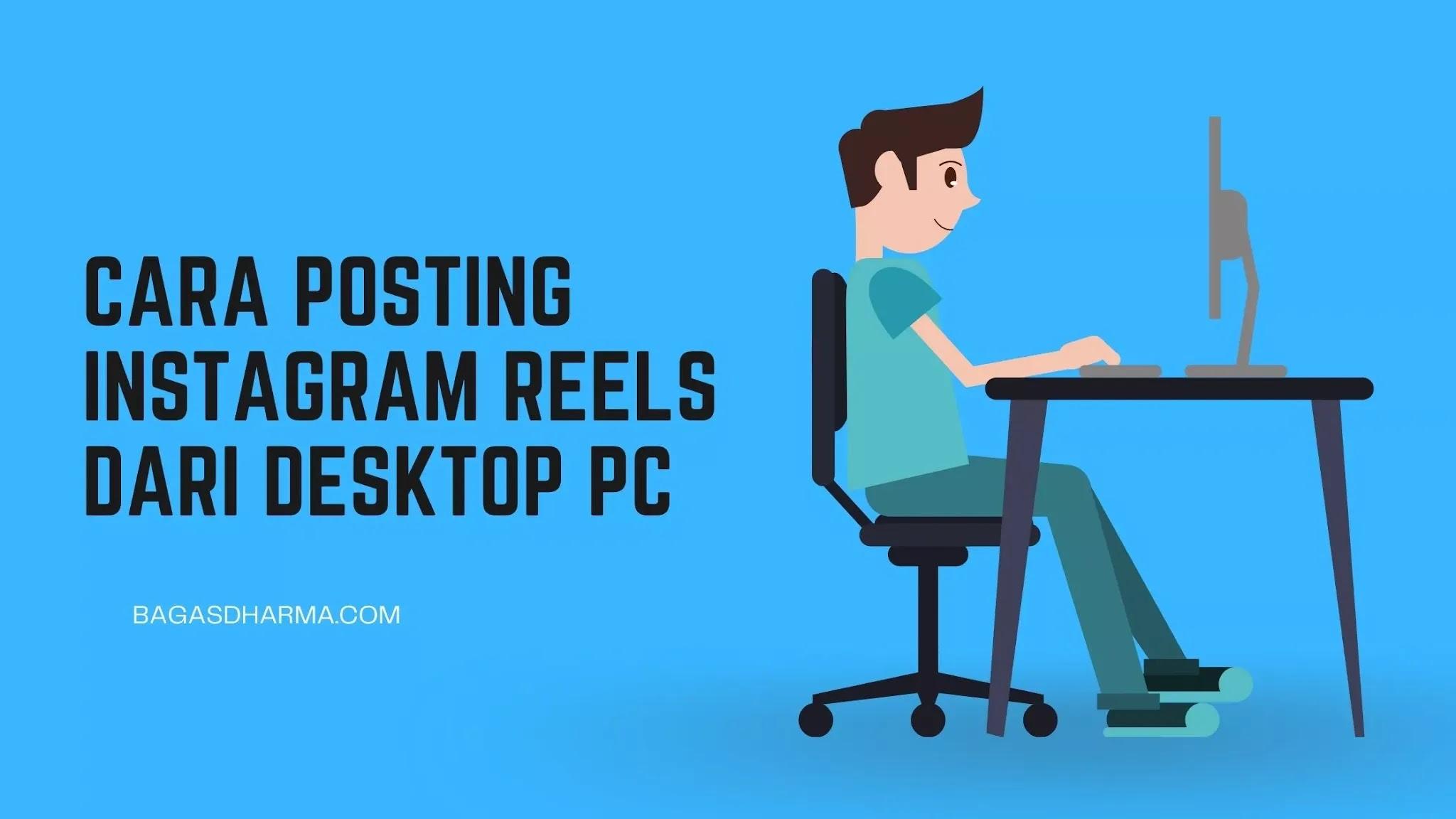 cara posting reels di pc