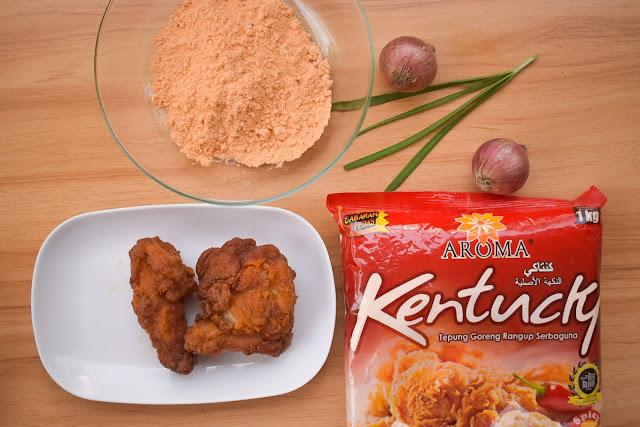 Resepi Ayam Goreng Kentucky ( Spicy ) Guna Tepung AROMA