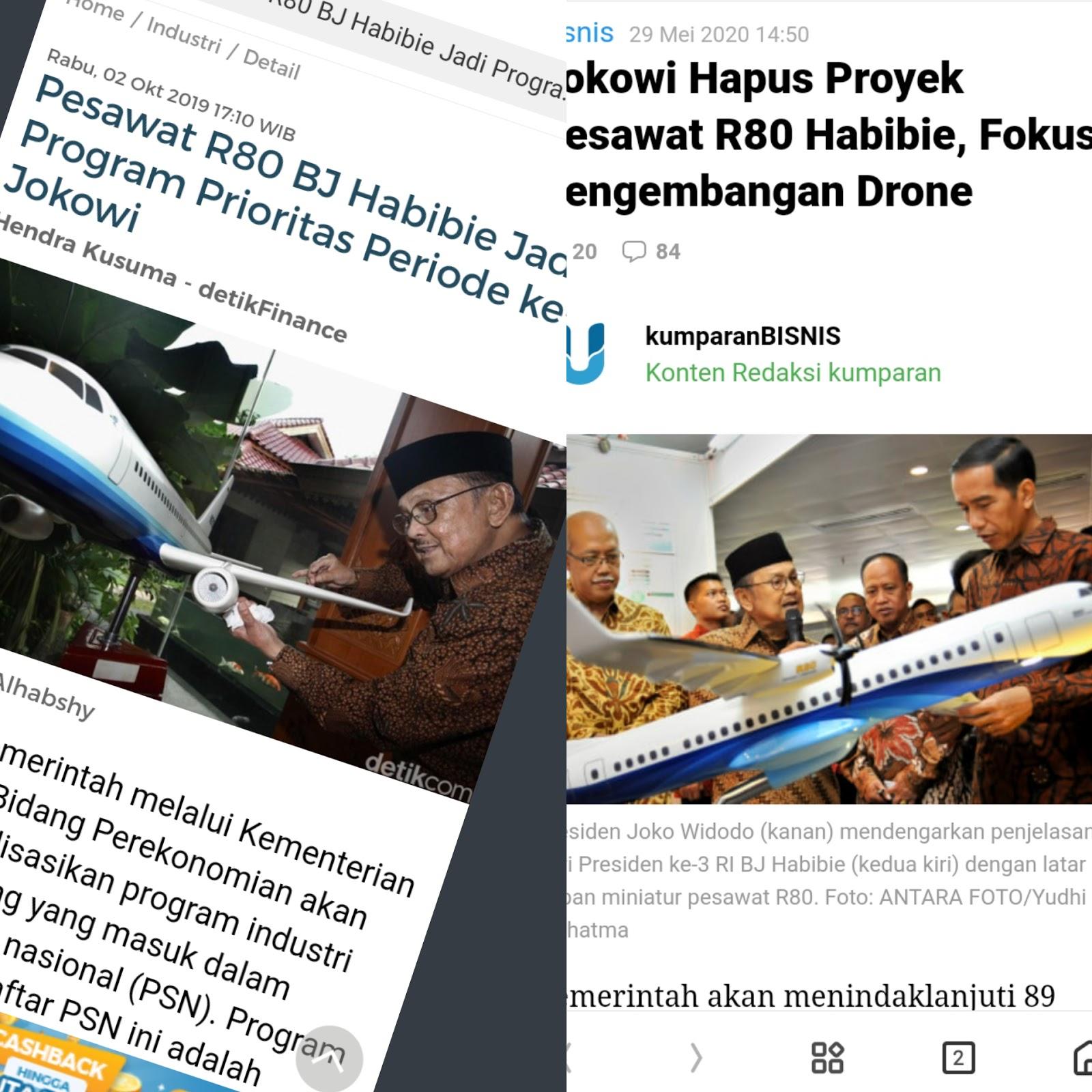 Karya Eyang Habibie Diganti Drone