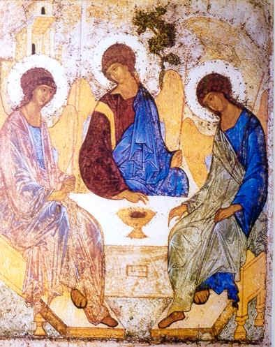 El Icono De La Santísima Trinidad De Andrew Rubelv Panagia La Toda Santa