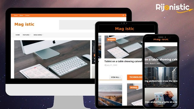 Magistic Blogger Template | Download For Free