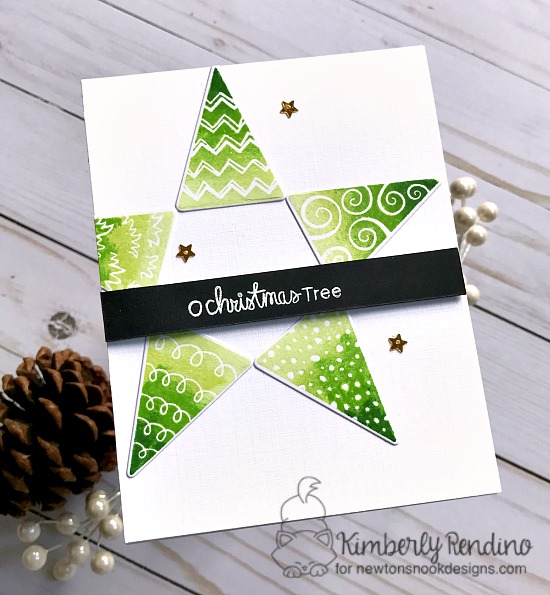 Festive forest card by Kimberly Rendino | Newton's Nook Designs | handmade card | holiday | Christmas | tree | star | Oh Christmas Tree | papercraft | cardmaking | Christmas card | kimpletekreativity.blogspot.com