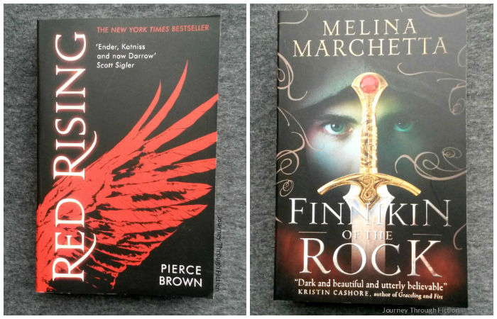 Red Rising by Pierce Brown and Finnikin of the Rock by Melina Marchetta