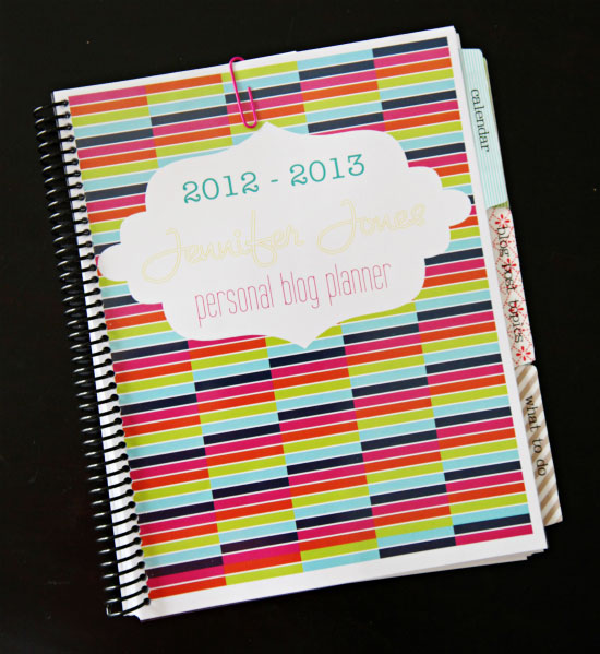 IHeart Organizing: My Daily Blog Planner