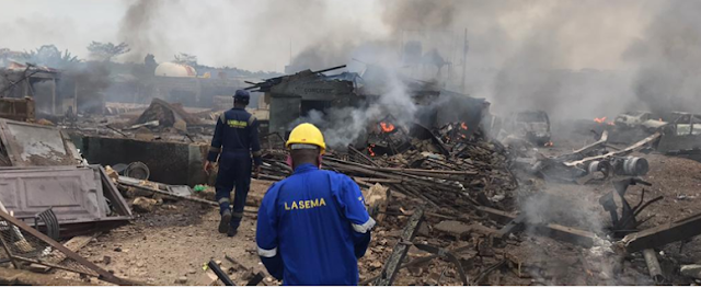 BREAKING: Many injured, Properties destroyed as gas explodes in Lagos