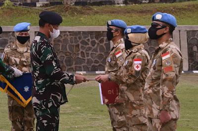 186 Prajurit TNI Kontigen Garuda UNIFIL Selesai Menjalani Karantina Setelah Tiba di Tanah Air