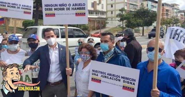 Juan Guaidó salió a la calle a manifestar con sus vecinos por la falta de luz
