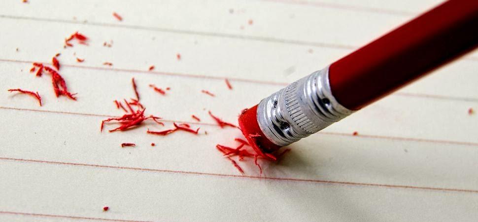 lápiz borrando