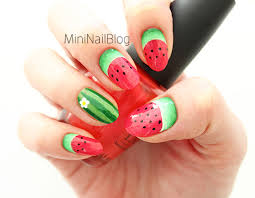 Nail Art of Watermelon