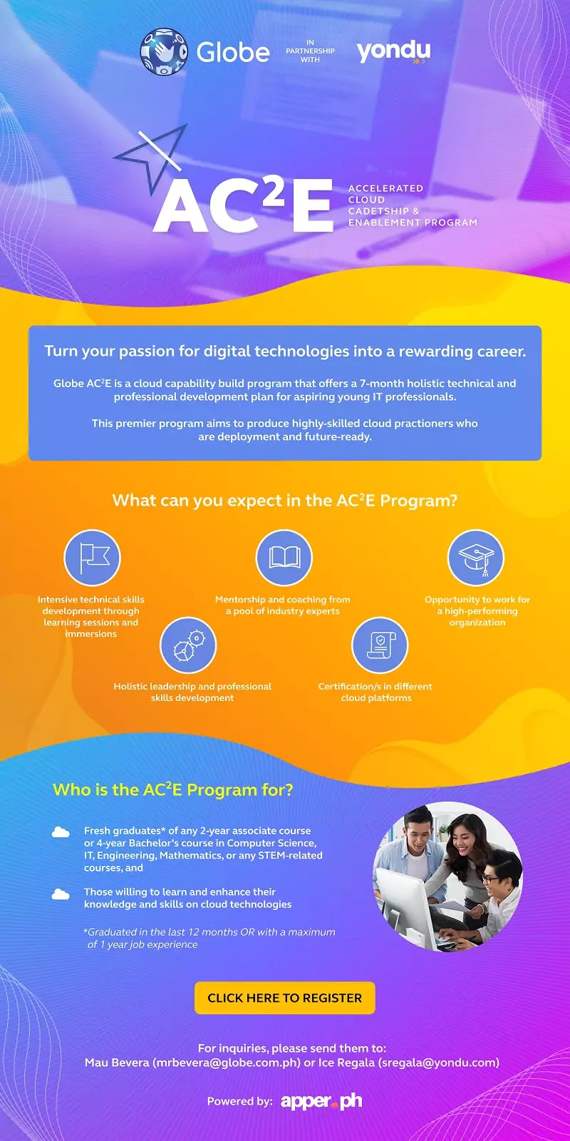Accelerated Cloud Cadetship Enablement Program Infographics