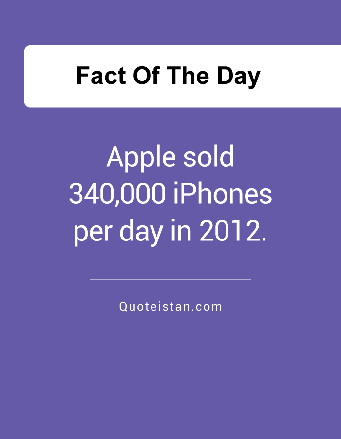 Apple sold 340,000 iPhones per day in 2012.