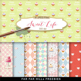 New Freebies Kit of Backgrounds - Sweet Life