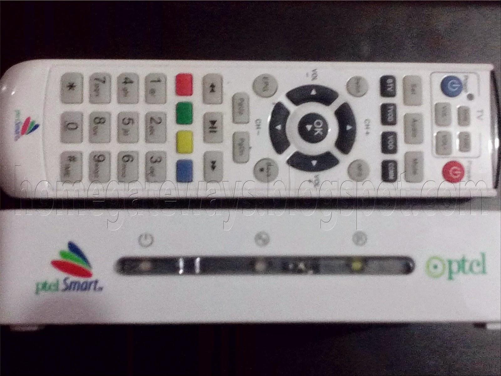 Home Gateway support: PTCL IPTV setup box configration