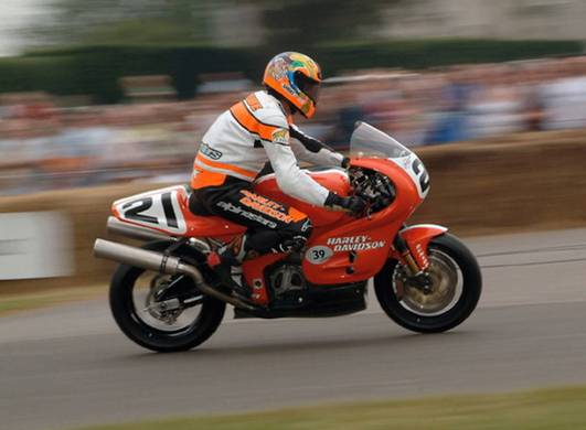Steve Scheibe Harley Davidson VR1000 Goodwood Festival of Speed