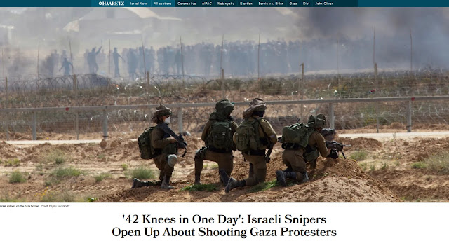 https://www.haaretz.com/israel-news/.premium.MAGAZINE-42-knees-in-one-day-israeli-snipers-open-up-about-shooting-gaza-protesters-1.8632555