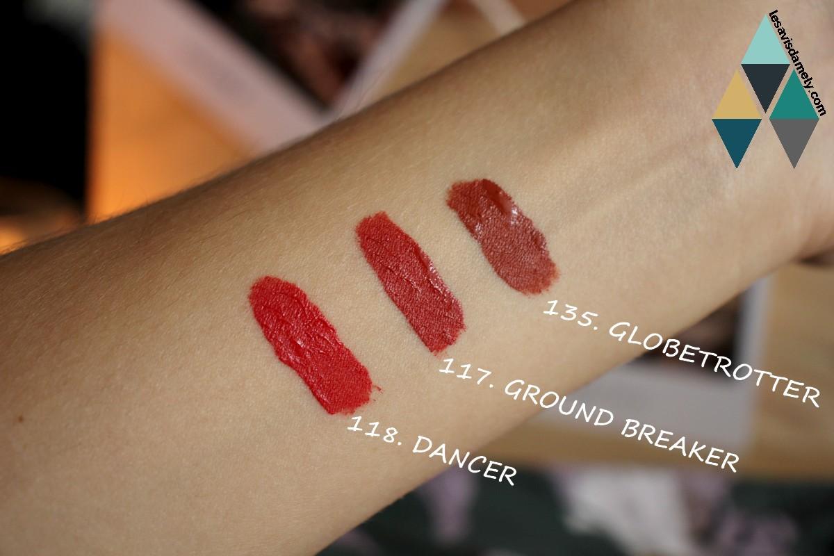 revue beauté swatches et test superstay rouge à lèvres mats