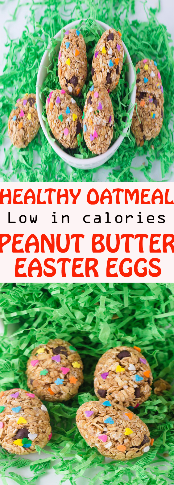 HEALTHY OATMEAL PEANUT BUTTER EGGS