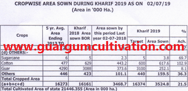 Guar sowing has completed on 2,52,100 Hectare area in Rajasthan , Guar, guar gum, guar price, guar gum price, guar demand, guar gum demand, guar seed production, guar seed stock, guar seed consumption, guar gum cultivation, guar gum cultivation in india, Guar gum farming, guar gum export from india , guar seed export, guar gum export, guar gum farming, guar gum cultivation consultancy, today guar price, today guar gum price, ग्वार, ग्वार गम, ग्वार मांग, ग्वार गम निर्यात 2018-2019, ग्वार गम निर्यात -2019, ग्वार उत्पादन, ग्वार कीमत, ग्वार गम मांग, Guar Gum, Guar seed, guar , guar gum, guar gum export from india, guar gum export to USA, guar demand USA, guar future price, guar futrue demand, guar production 2019, guar gum demand 2019