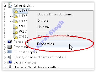device manager - properties
