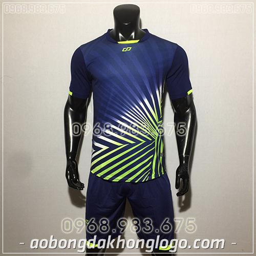 Áo bóng đá ko logo CP TC màu tím than