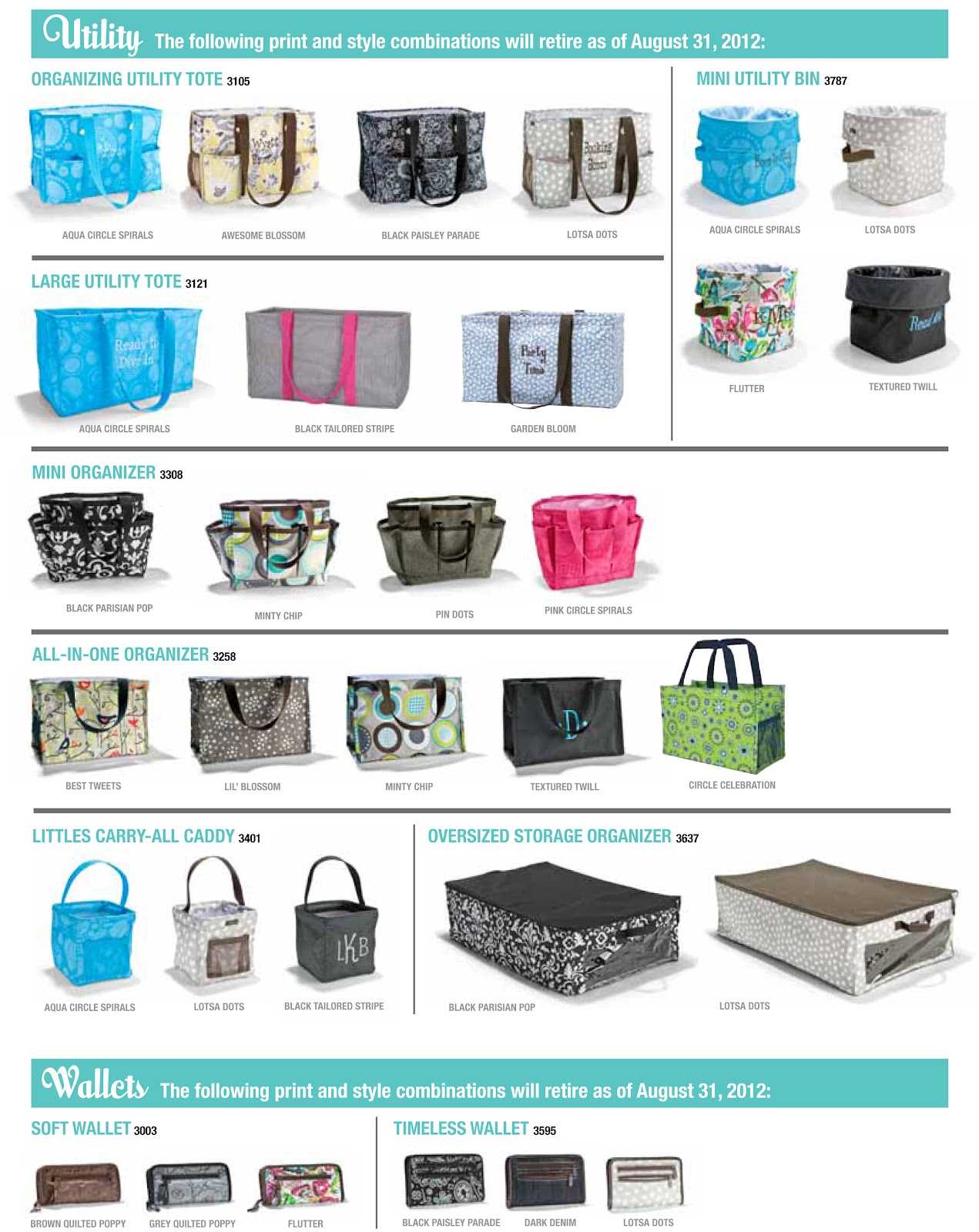 Nicole's Thirty-One Gifts: Discontinued Items from the Summer Catalog