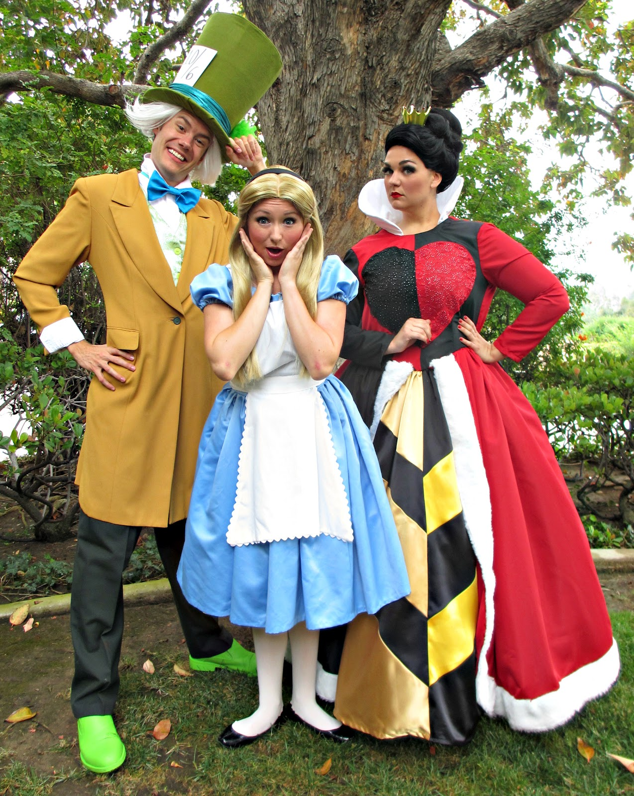 Party Princess Productions Alice In Wonderland Characters