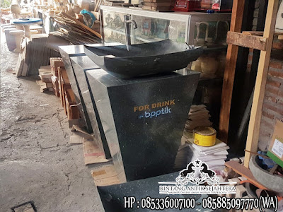 Pedestal Marmer Hitam, Wastafel Pedestal Marmer, Jual Pedestal Marmer