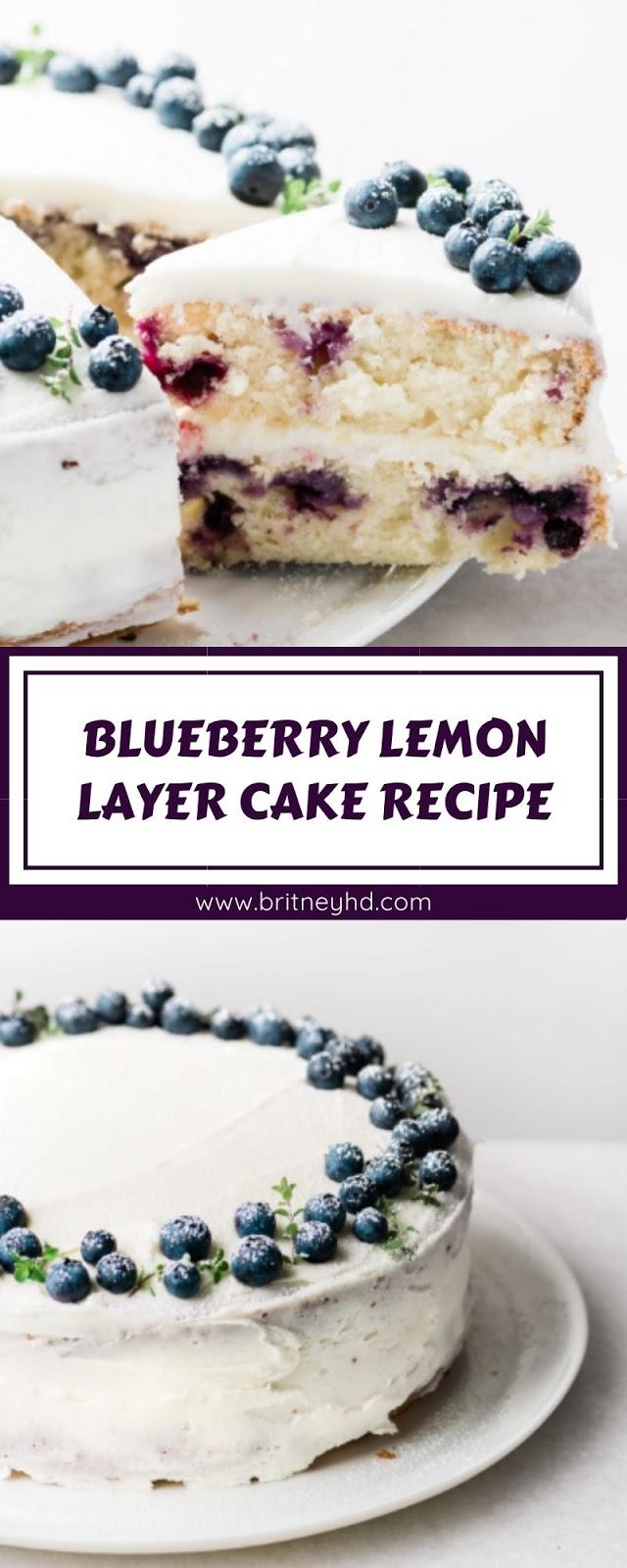 BLUEBERRY LEMON LAYER CAKE RECIPE