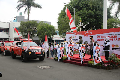 Mantap, Panglima TNI, Kapolri dan BNPB Luncurkan Gerakan Mobil Masker di Malang
