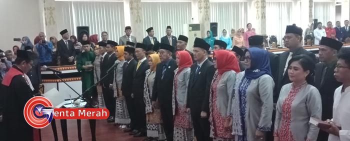 25 Anggota DPRD Kota Metro Dilantik, 14 Anggota Masih Wajah Lama