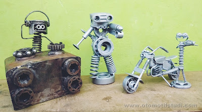 How to Make Handicrafts from Used Spare Parts