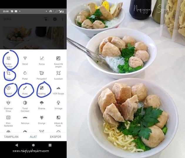 Tips Foto Produk dengan Aplikasi  Snapseed
