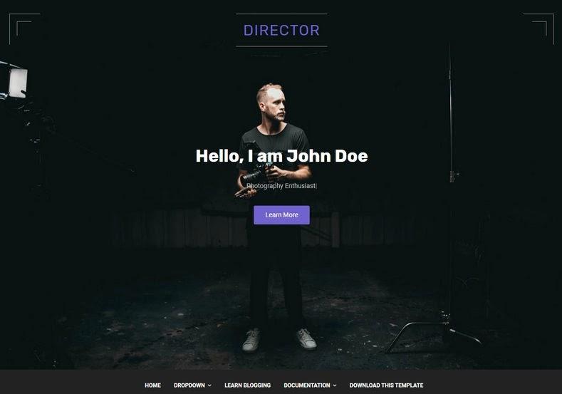 Director Blogger Template Premium Free Download in 2021