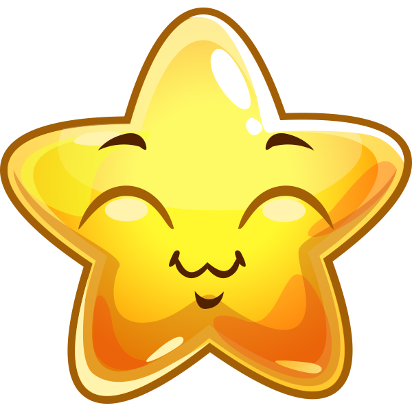 Cheerful Star Sticker