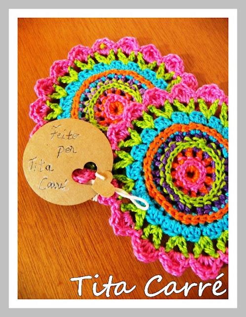 Porta copos Mandala colorida