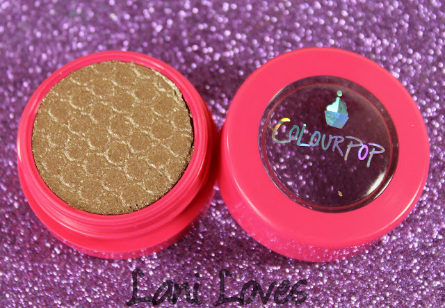 Colourpop Super Shock Shadow - Birthday Girl Swatches & Review