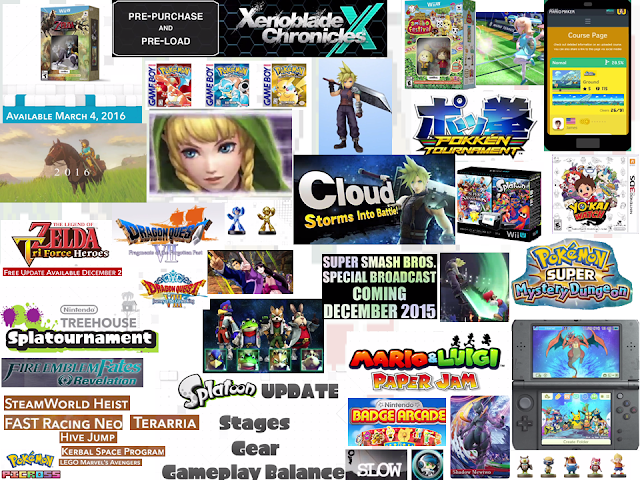 Nintendo Direct November 2015 collage games announcements collection