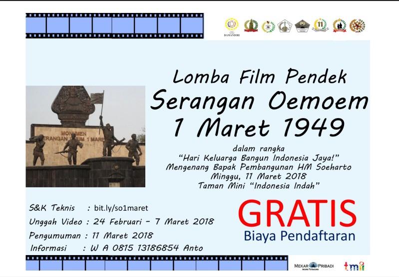 Lomba Film Pendek Serangan Oemoem 1 Maret 1949 Gratis